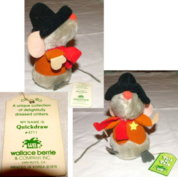 Wally Berry, Plush Mouse, Quickdraw mouse, Sheriff mouse, Western mouse, Plush toys,