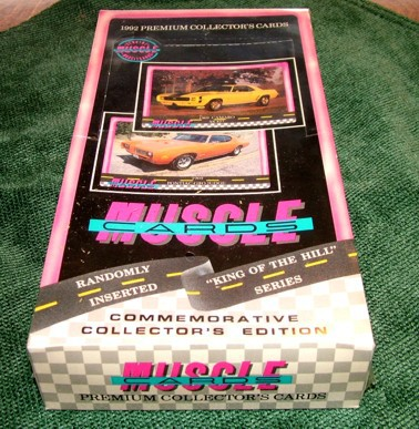 1992 Muscle Cards, 1992 Car Collector's Cards, Muscle Cards Display Case, Muscle Cards Unopened, Car Cards, Automobile, Cars, Automotive, Collectibles