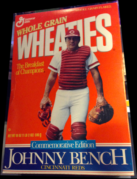 Johnny Bench, Wheaties, Wheaties Cereal, Sports Collectibles, Baseball, 1989